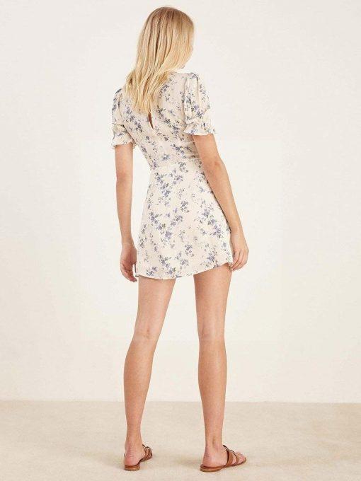 Weißes Kleid im Boho Chic